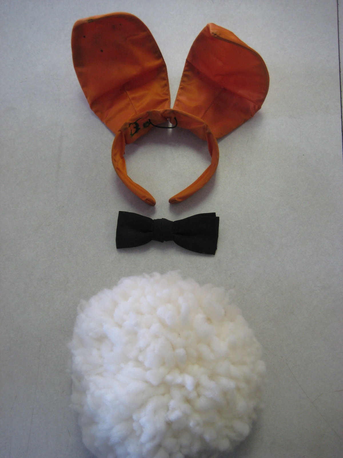 Orange Playboy Bunny Ears Tail Tie