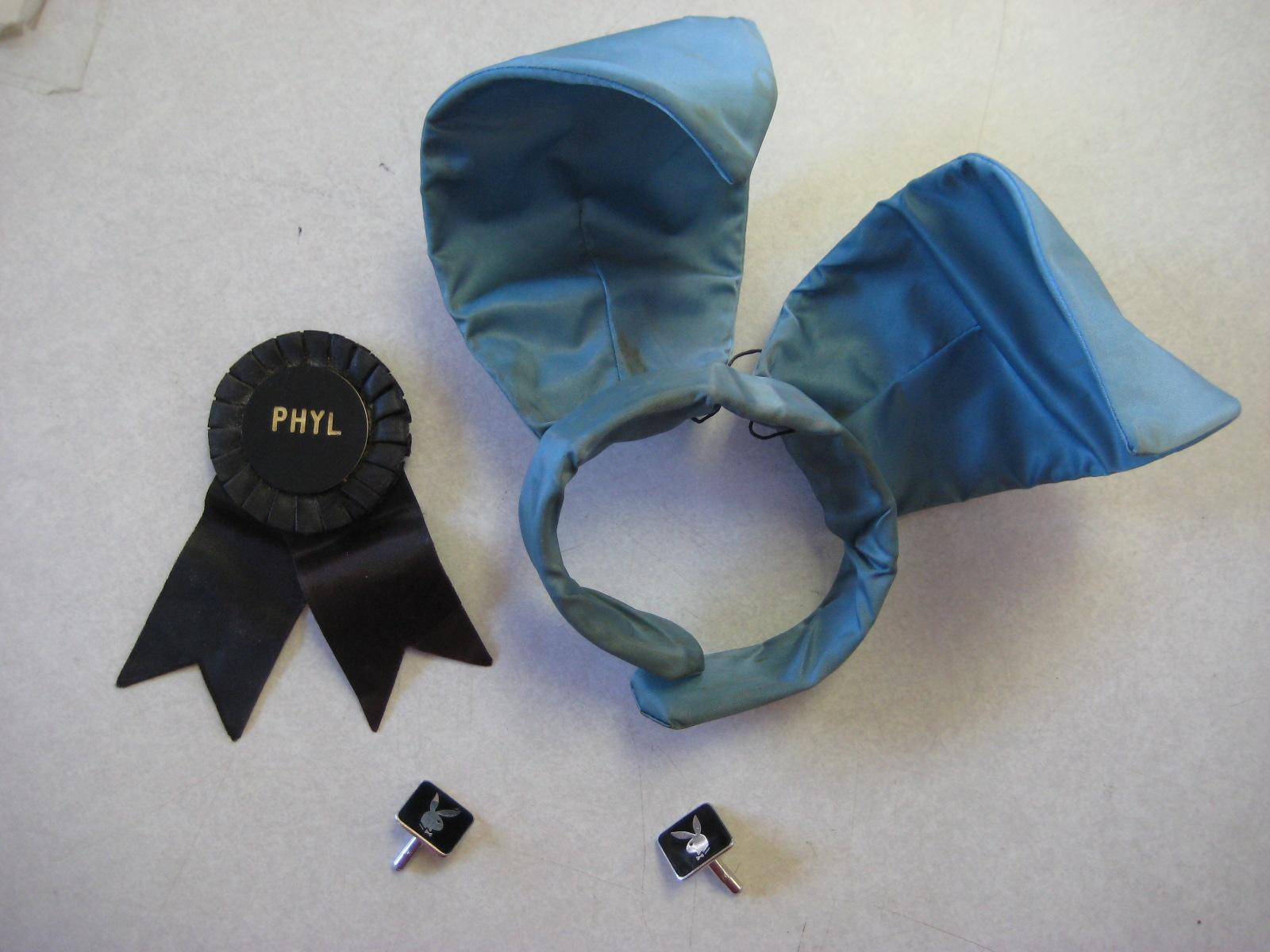 Blue Playboy Bunny Ears