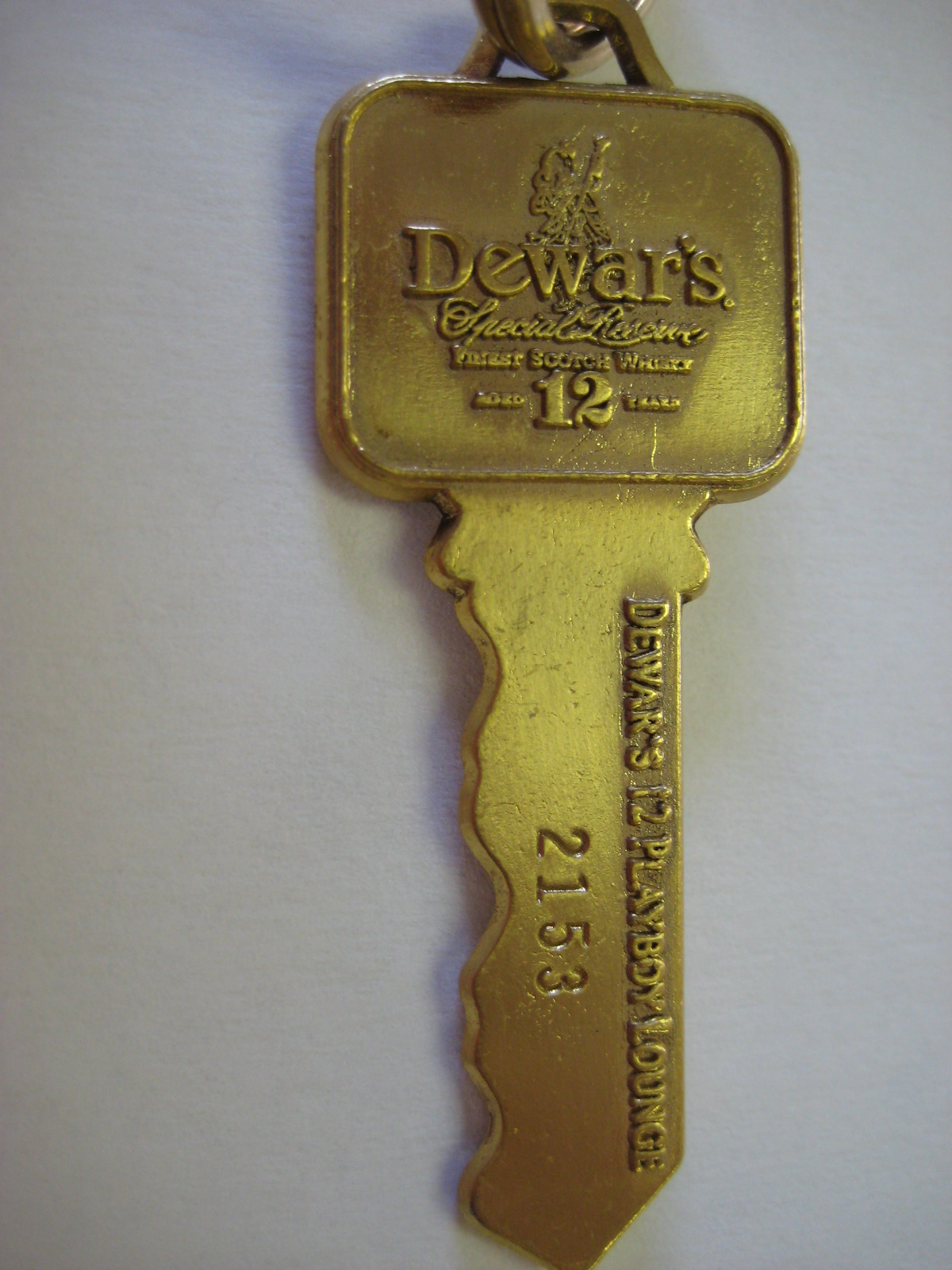 Dewar's 12 Playboy Lounge Key