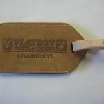 Playboy Atlantic City Leather luggage tag