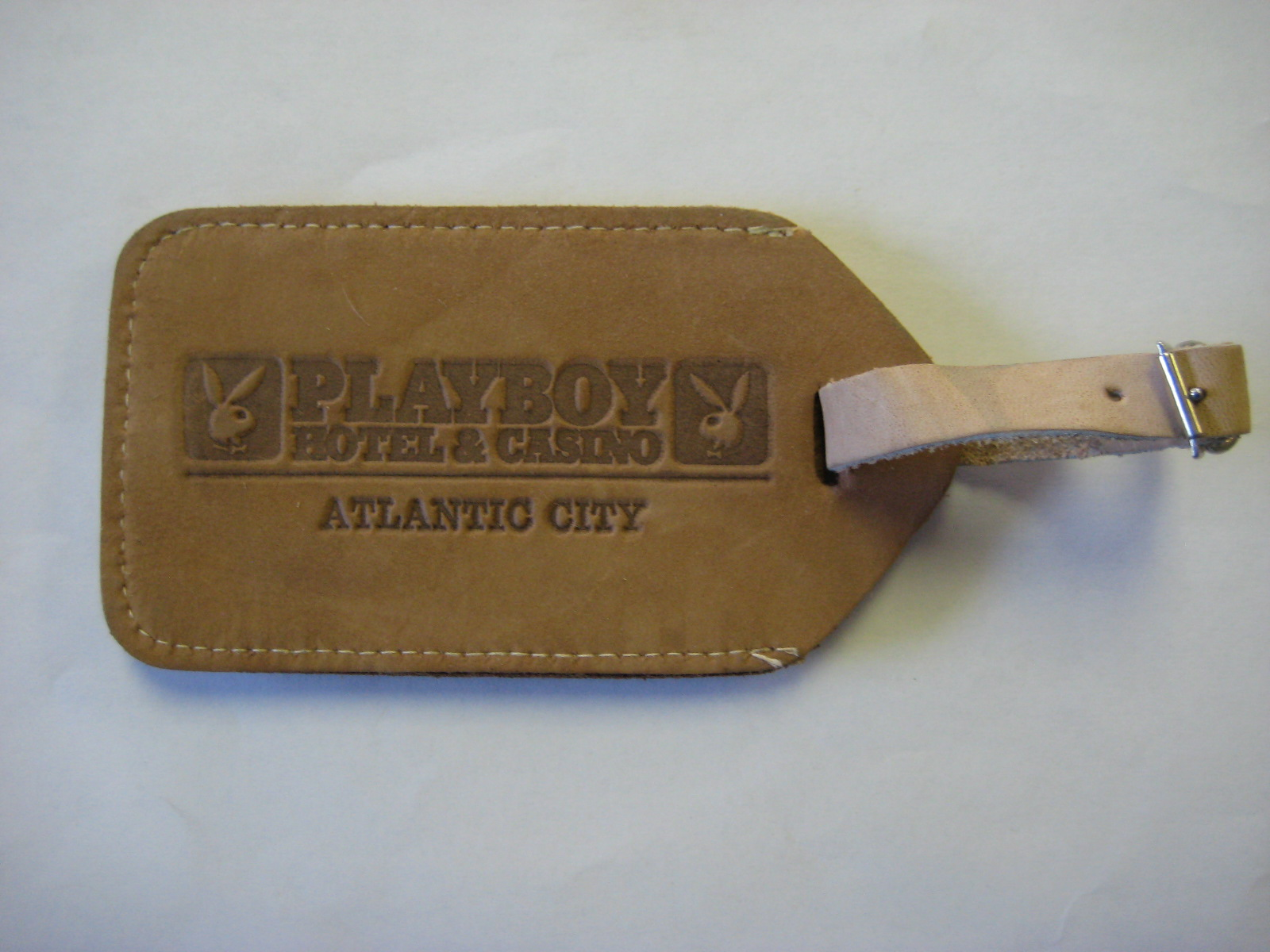 Playboy Atlantic City Leather luggage tag