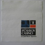 Playboy Club Napkin Cable Beach Nassau