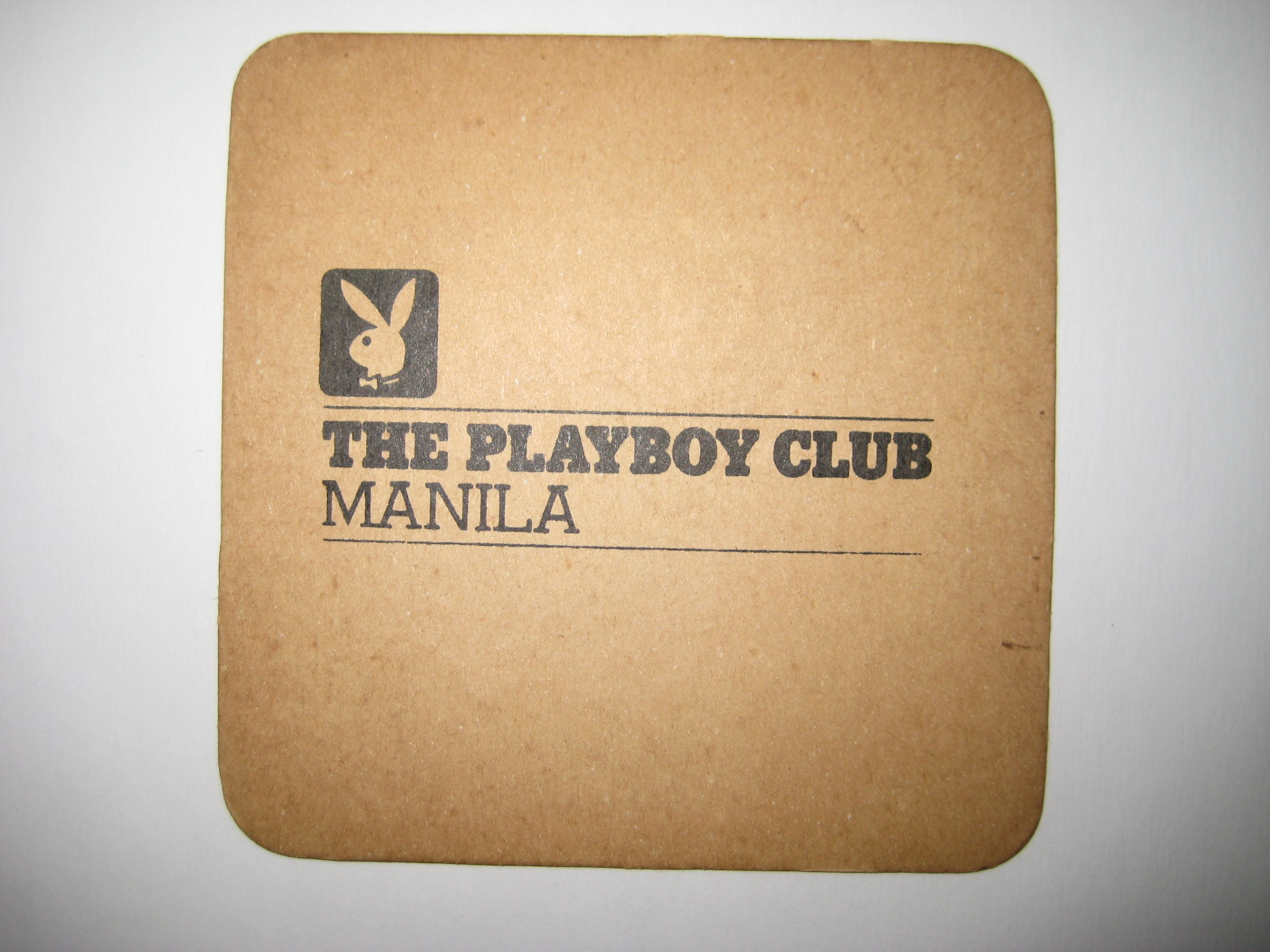 Playboy Club Manila Coaster