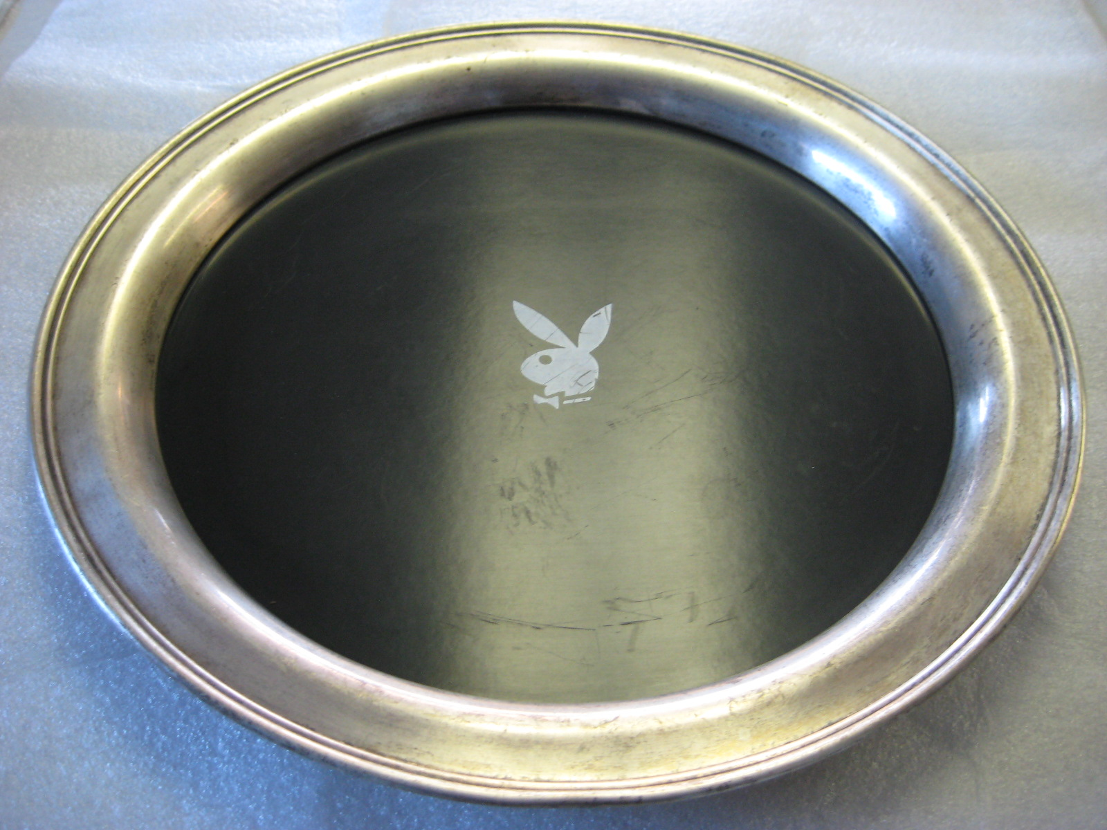 Playboy Serving Tray Silver Plate