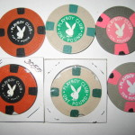 London Playboy Club Casino Chips Greek Key