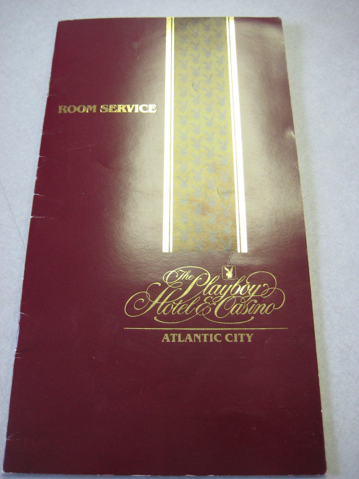 Playboy Atlantic City Room Service Menu