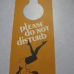 Femlin Do Not Disturb Playboy Door hanger