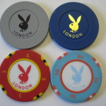 London Playboy Club Chips 25 Pence 1 Pound 5 Pound 10 Pound
