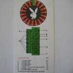 London Playboy Club Casino Roulette Card