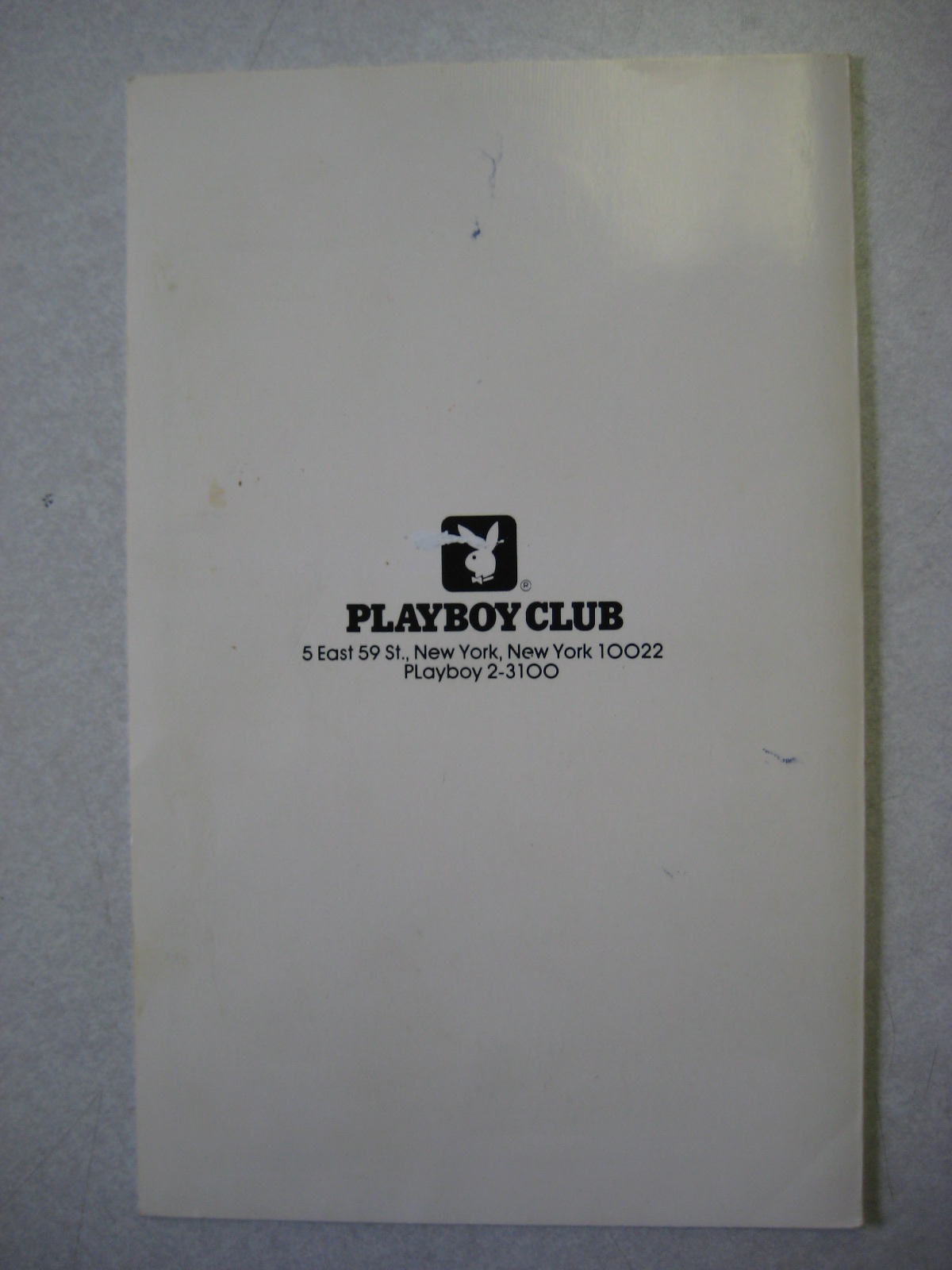 Playboy Club New York Menu