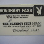Miami Playboy Club Honorary Pass