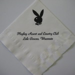 Playboy Club Lake Geneva Napkin