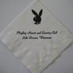 Playboy Club Lake Geneva Napkin