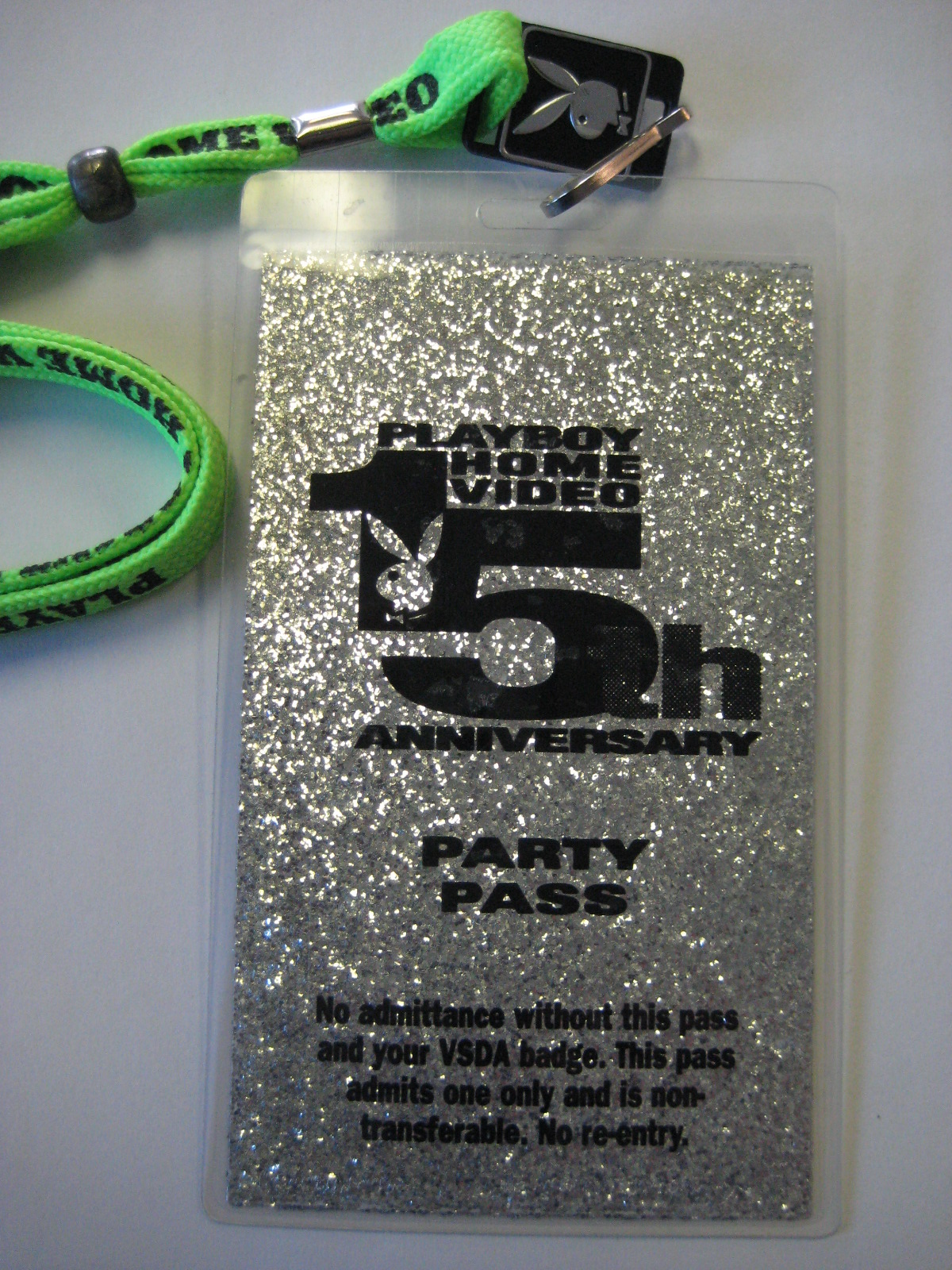 Playboy Home Video 15th Anniversary Party Pass