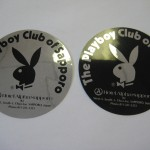 Playboy Club of Sapporo metallic stickers