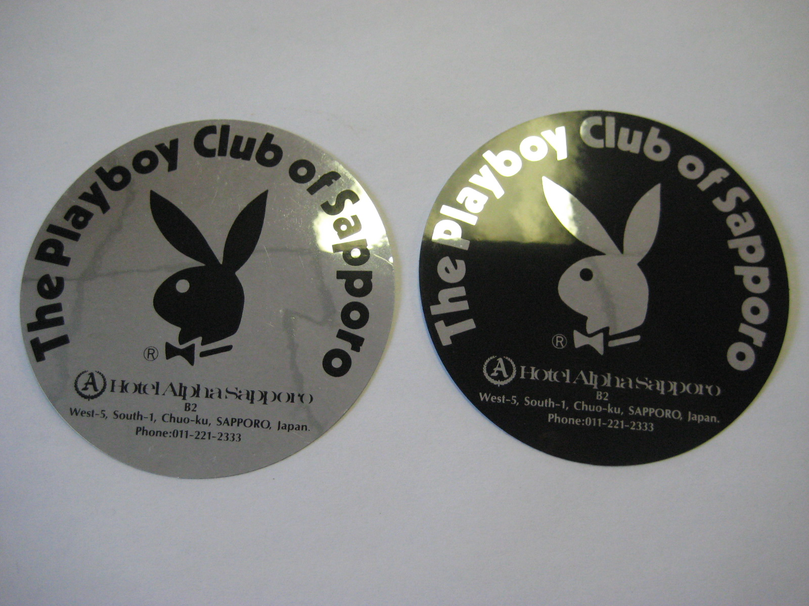 Playboy Club of Sapporo metallic stickers
