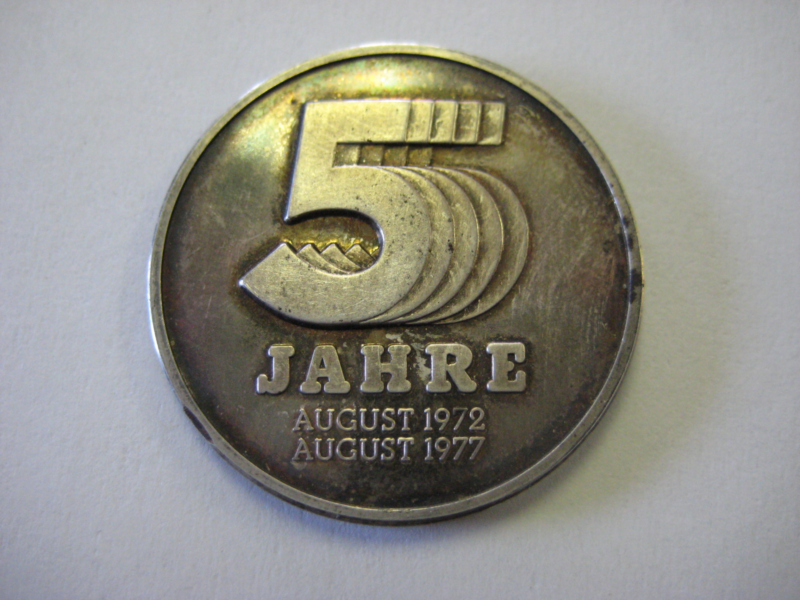 German Playboy Magazine's 5th Anniversary Silver Token