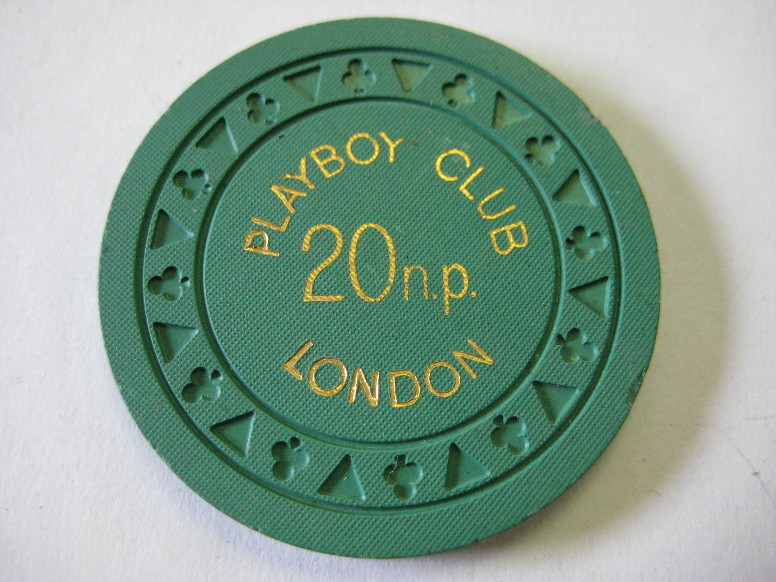 1971 Triclub 20 New Pence London Playboy Club Casino