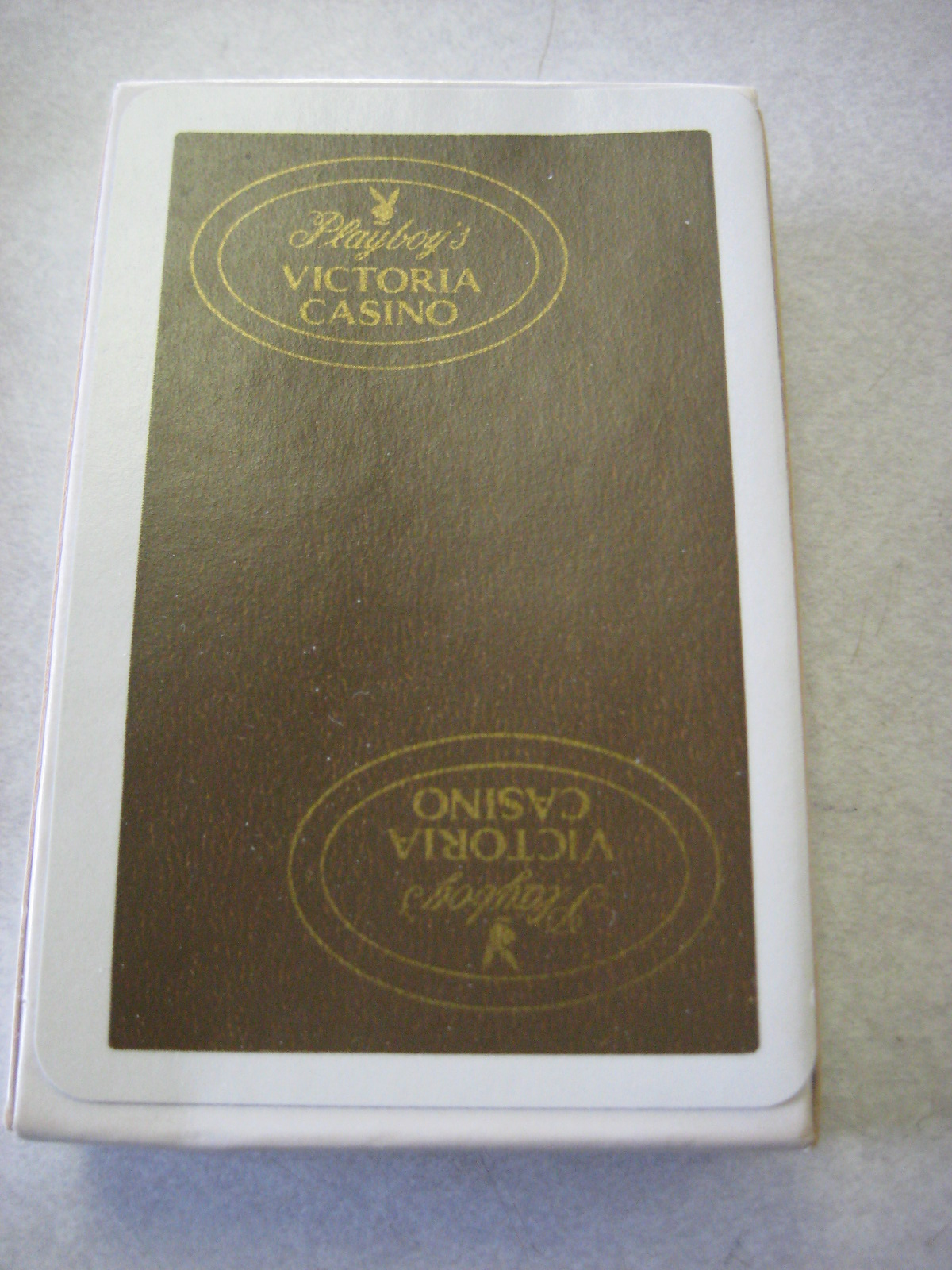 Playboy's Victoria Casino Brown Deck of Playing Cards Box