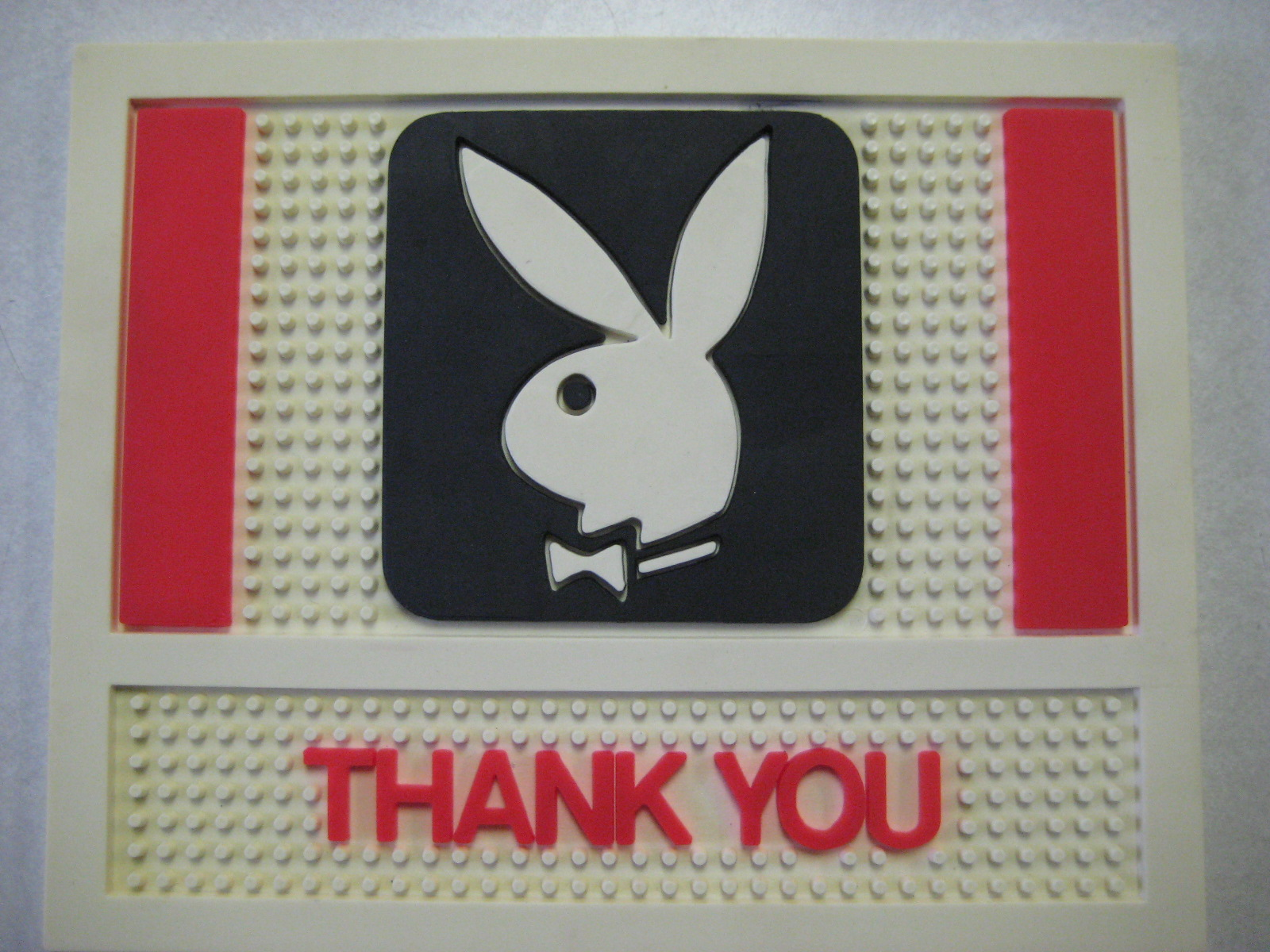 Playboy Club Thank You Bar Mat