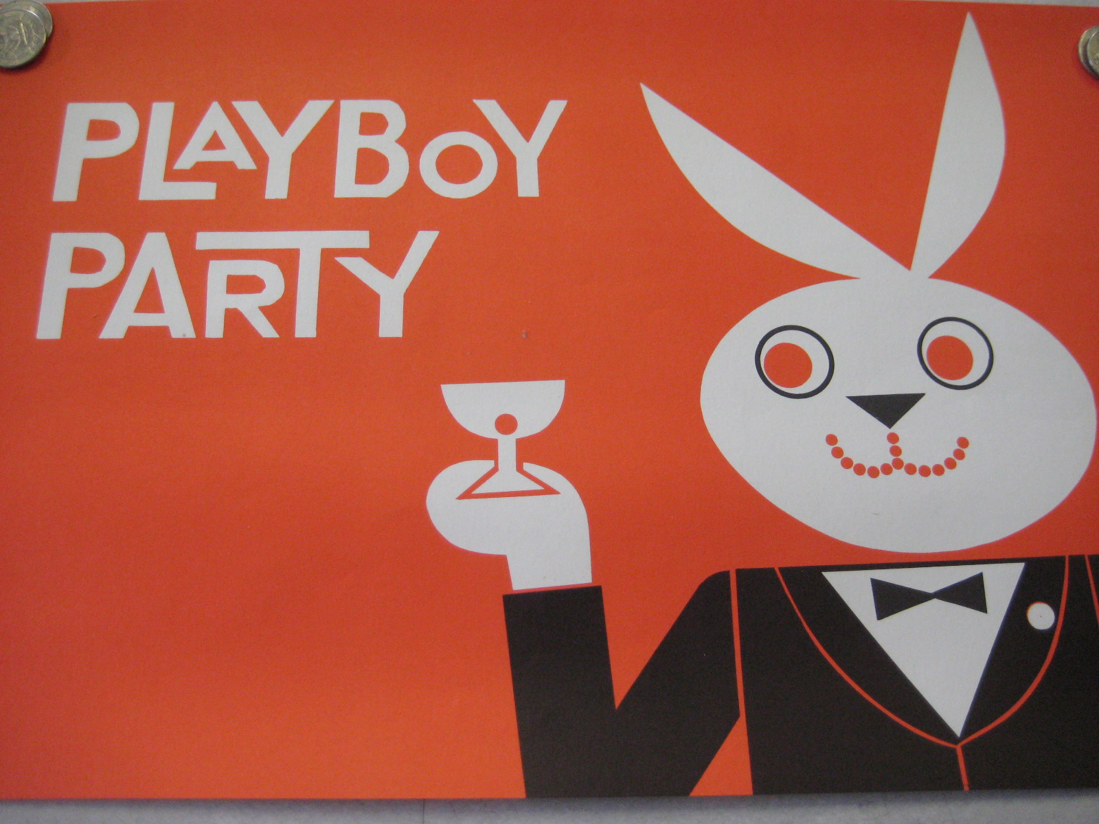 Playboy Party Place mat Orange
