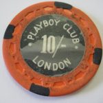 1966 London Playboy Club Casino 1st issue used ten Shillings
