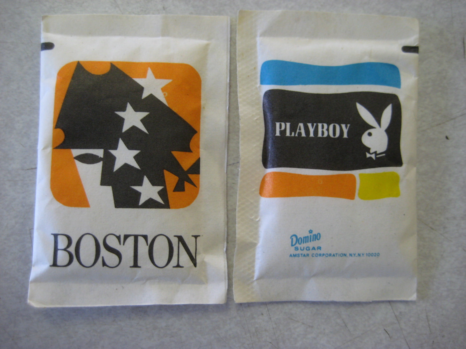 Playboy of Boston Sugar Packet