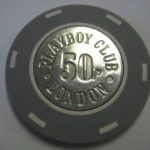 50 Pence Chip Playboy Club London Ben Jones Chip