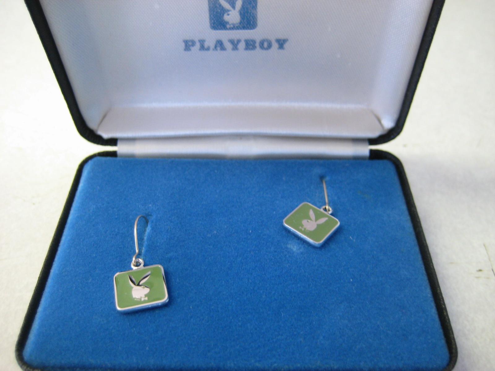 Playboy Green Earrings