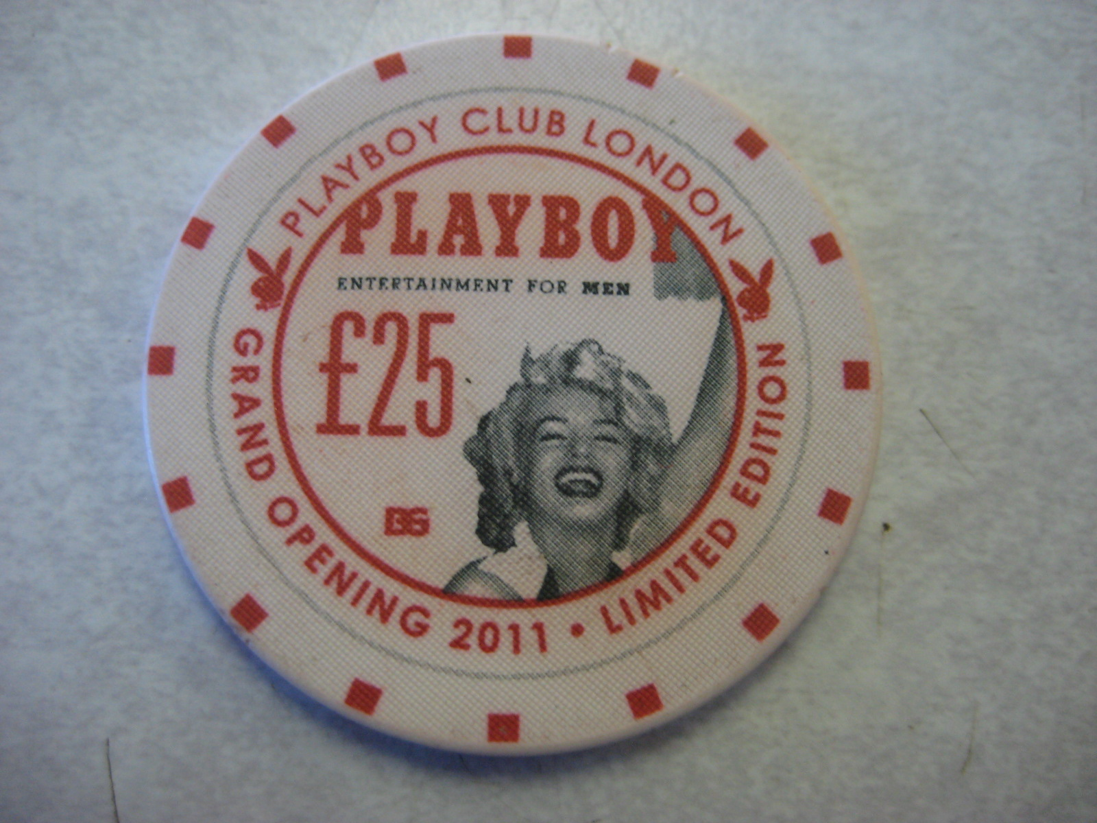 London Playboy Club 25 Pound Grand Opening 2011 Marilyn Monroe