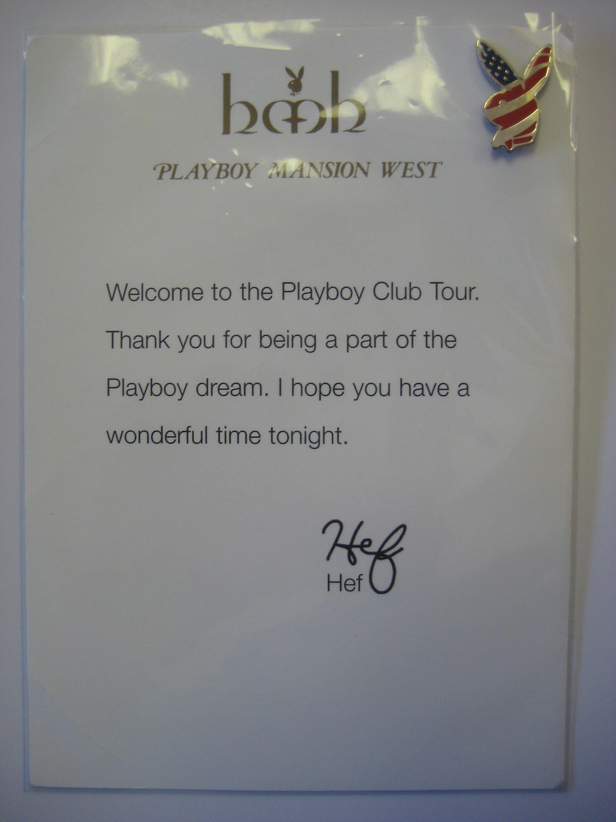 Playboy Club Tour Pin