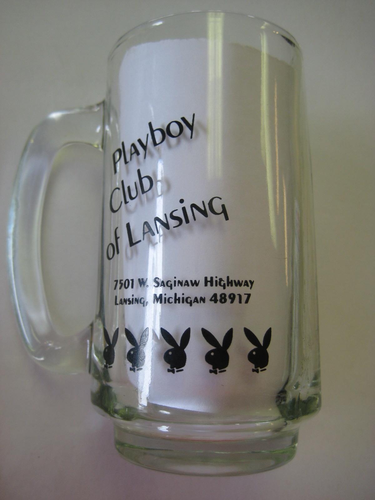 Playboy Club of Lansing Clear Mug