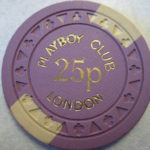 1973 25 Pence London Playboy Club Casino