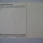 an inn for all seasons Postcard Lake Geneva
