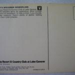 Playboy's Wisconsin Wonderland Postcard Lake Geneva