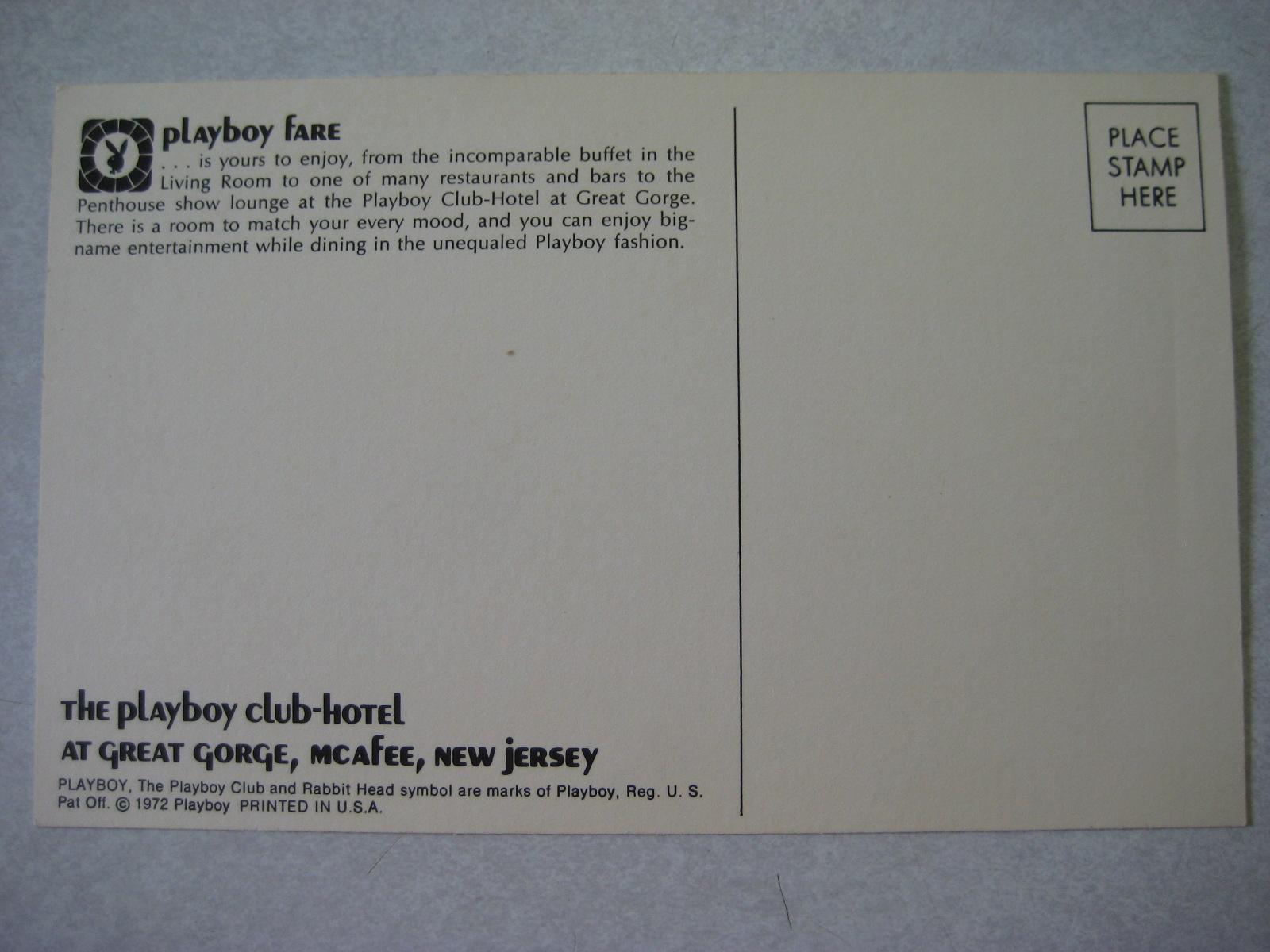 Great Gorge Postcard Playboy Club Fare