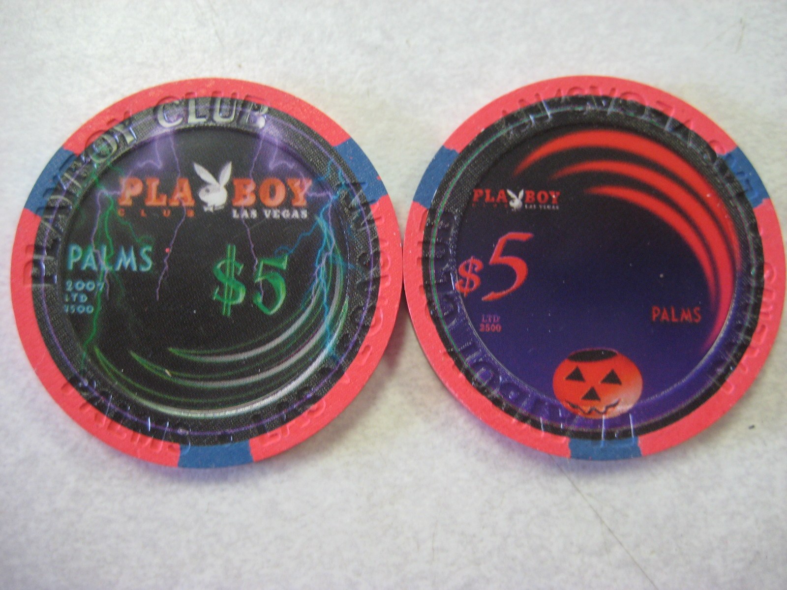 Playboy Club Halloween $5 Chips Palms 2007