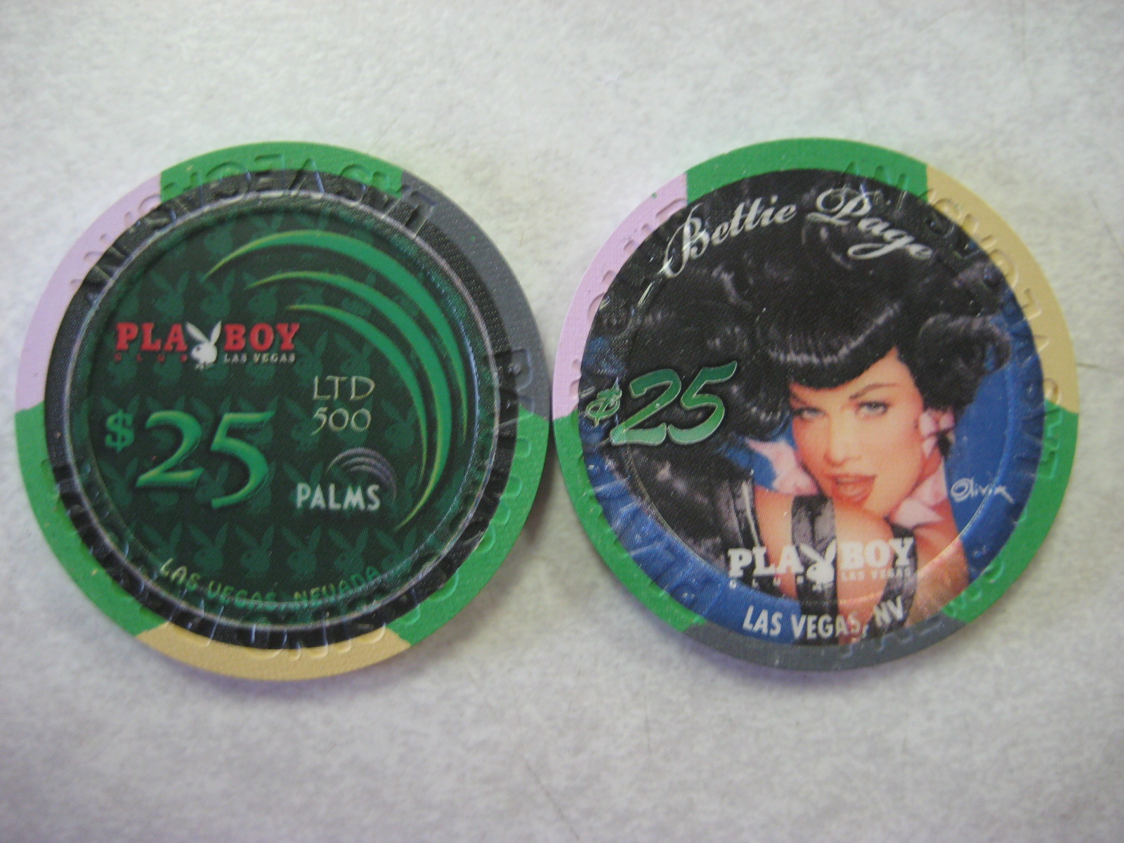 Bettie Page $25 Chips 4th Anniversary Palms Playboy Club