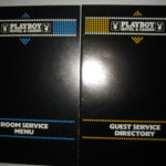 Playboy Atlantic City room service menu and guest directory