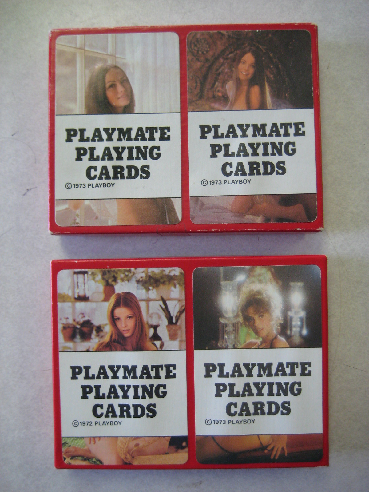 1972 1973 Playboy Playmate Cards Red Box