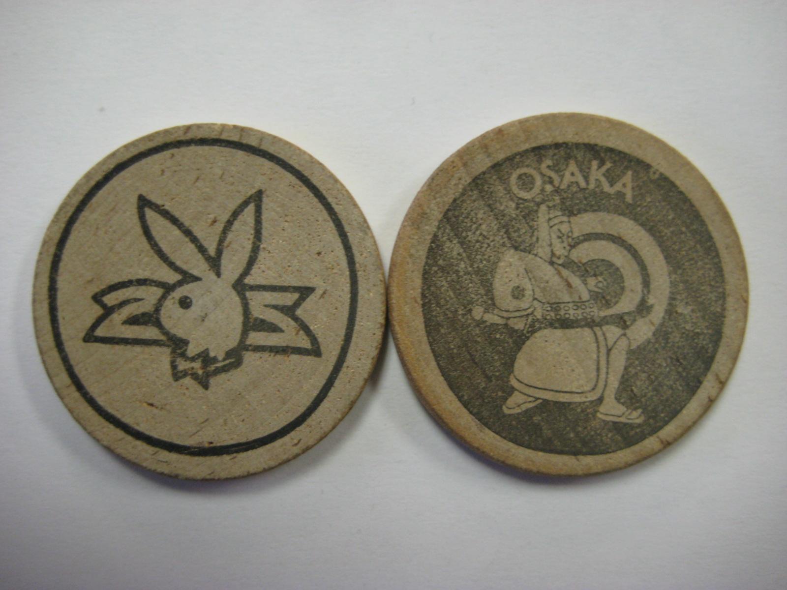 Plaboy Club Osaka wooden Nickel