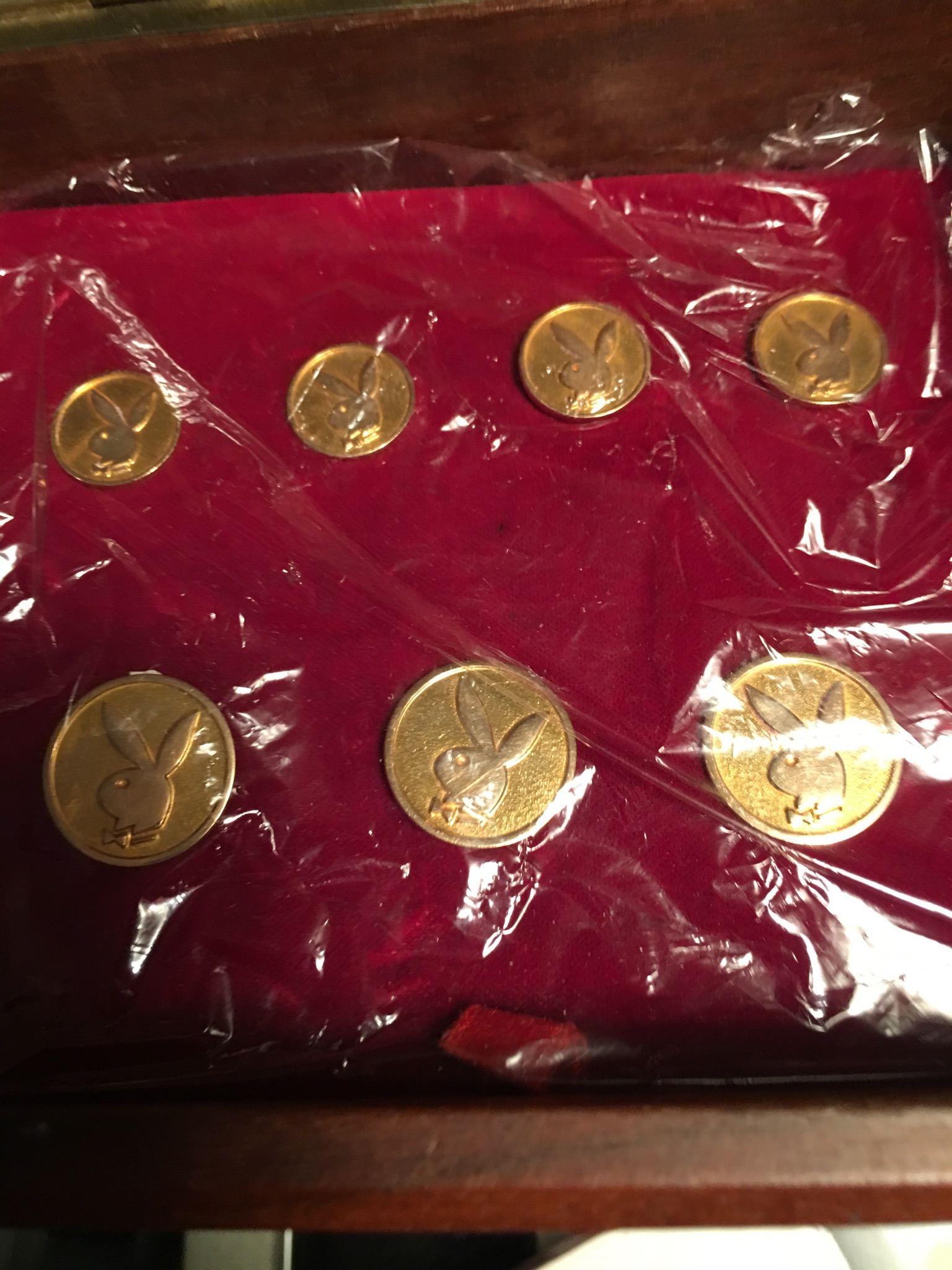 Playboy Solid Gold Blazer Buttons