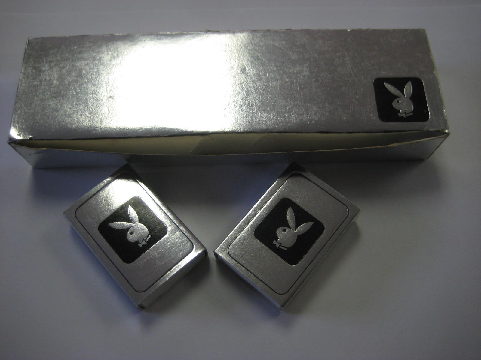 Silver Playboy Bunny Matchbox