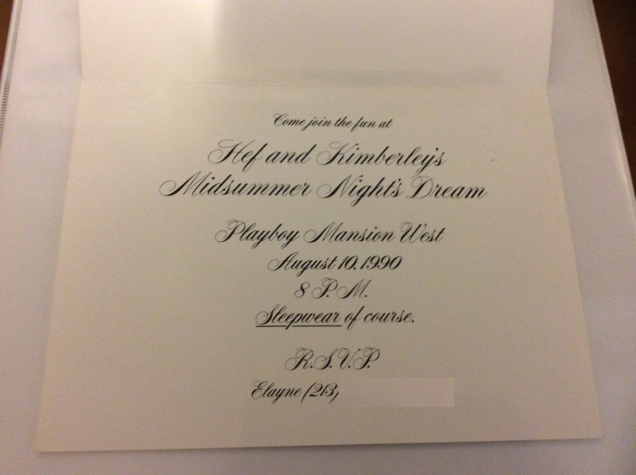 Midsummer Night's Dream 1990 Invitation