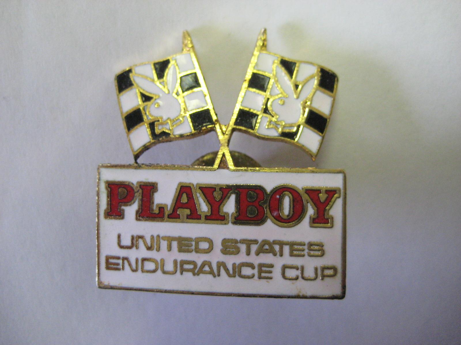 Playboy Endurance Cup Hat Pin 1985