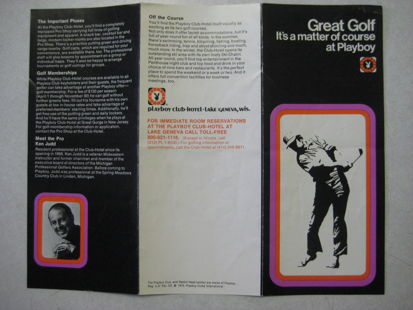 Golf Brochure Lake Geneva playboy