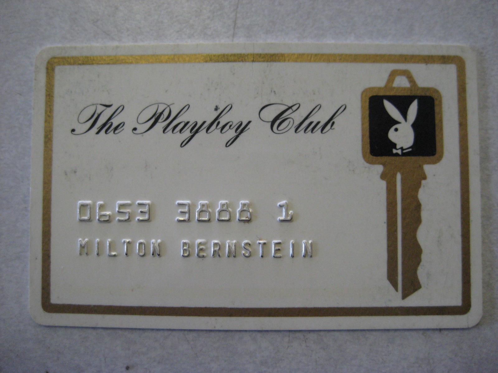 1st Playboy Club Plastic Card