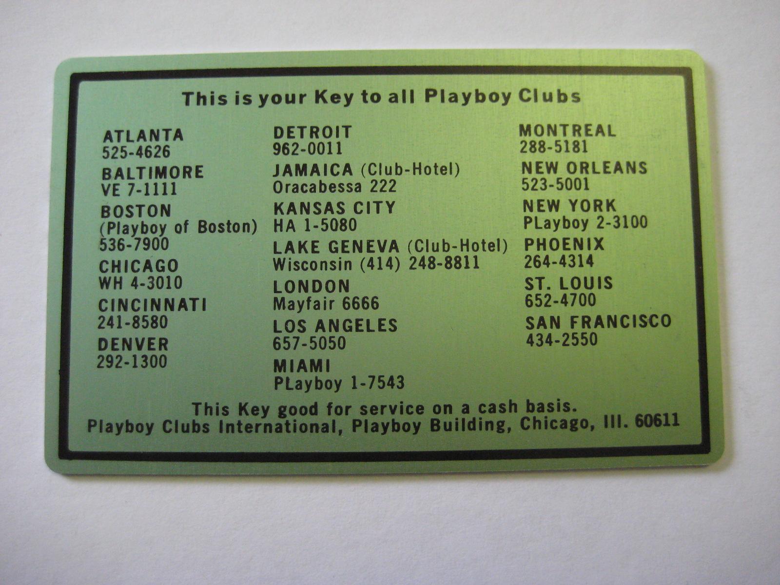 Blank Green Playboy Club Cash Card