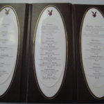 Playboy Club Leather Menu