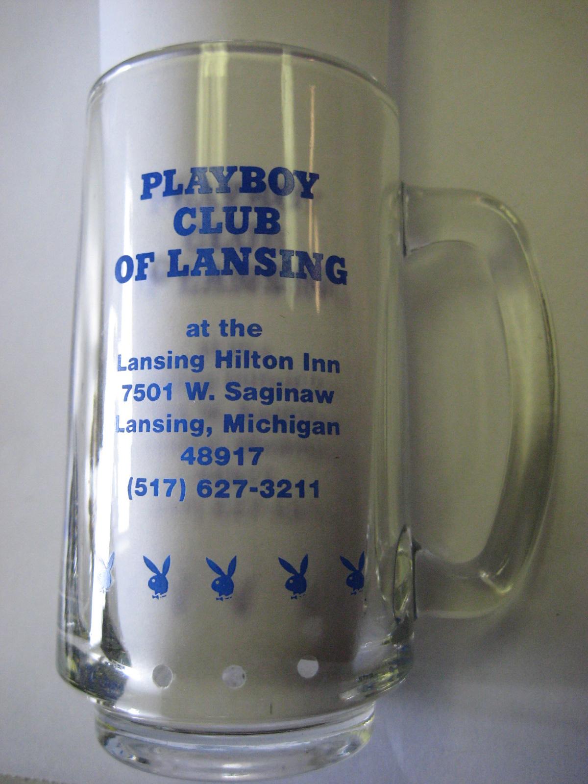 Playboy Club Lansing Blue Mug